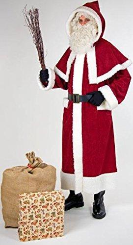 Weihnachtsmannkostüm mit Pellerine und Kapuze Nikolausmantel