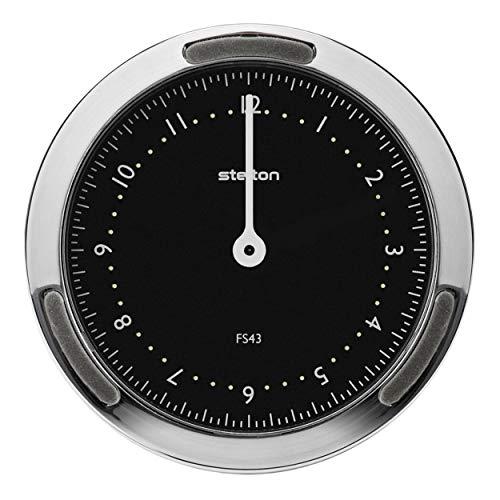 Stelton Timeless Elektronische Parkscheibe, Batteriebetrieben, Kunststoff/Edelstahl, Schwarz/Silber, Ø 10.5 cm, 3099