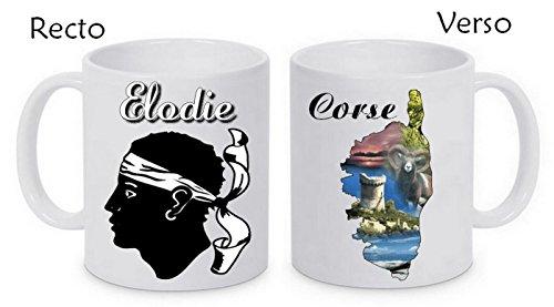 Mug céramique corse personnalisé avec prénom