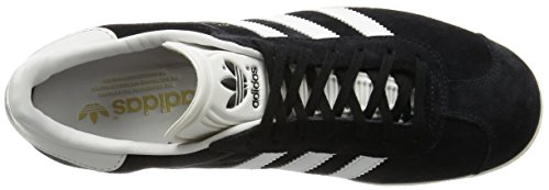 adidas Gazelle, Scarpe da Ginnastica Basse Unisex – Adulto core black/vintage white/gold metallic