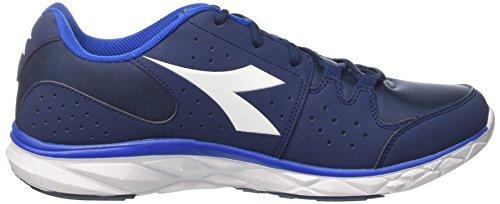 Diadora Hawk 8, Chaussures de Running Compétition Homme Bleu (Blu Estate/bianco/blu Principe)