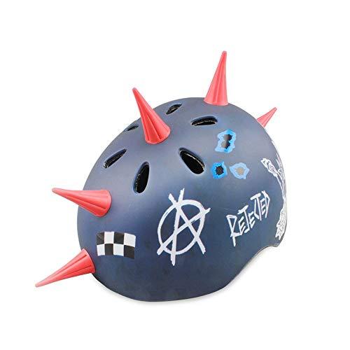 COKECO Helm für Kinder Kinder Fahrradhelm Perfekt für Radfahren und Schießen Verstellbarer Kopfbügel Belüftetes Design,Umfang 54-58CM Size26*21cm Blauer Kegel