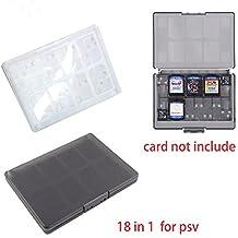 Microware 18 in 1 Hard Plastic Game Memory Cards Storage Protective Box Case Holder for Sony PlayStation Psvita PS Vita PSV 1000 2000 Slim
