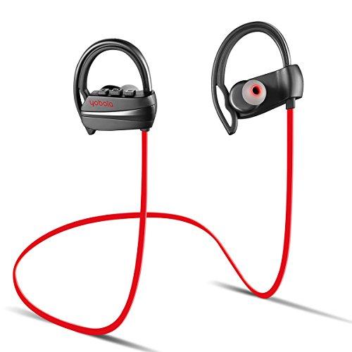 Yobola standby ultra lungo cuffie bluetooth wireless senza fili sport, auricolari 4.1 riduzione del rumore microfono, per iphone android e altri smartphone - 11 ore di musica