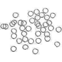 3mm Biegeringe offen Edelstahl silberfarben (silber, 50)
