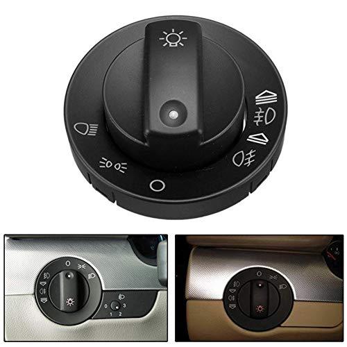 ZqiroLt Scheinwerferschalterabdeckung, Auto-Nebelscheinwerfer drehbar für Audi A4 S4 8E B6 B7 2000-2007 Schwarz (Audi S4 Spielzeug Auto)