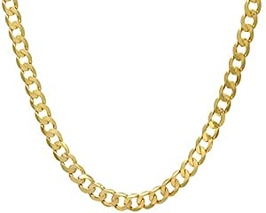 Citerna Men's 9 ct Yellow Gold 43.7 g Curb Chain Necklace of 46 cm/18 Inch Length and 9 mm Width