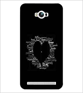PrintDhaba Typographic Heart D-2335 Back Case Cover for ASUS ZENFONE MAX ZC550KL (Multi-Coloured)