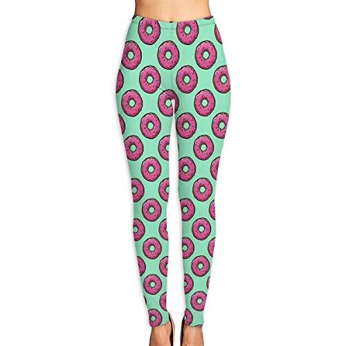 ad73cf06af1d3 Abusss Pantalons Yoga de Tela Deportivos de Cintura Alta Pantalones de  Donut Womens Ultra Soft Leggings