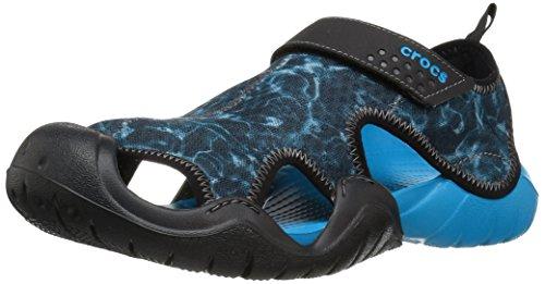 Crocs Swftwtrgrphsndl, Spartiates Homme Bleu (Ocean/Black)