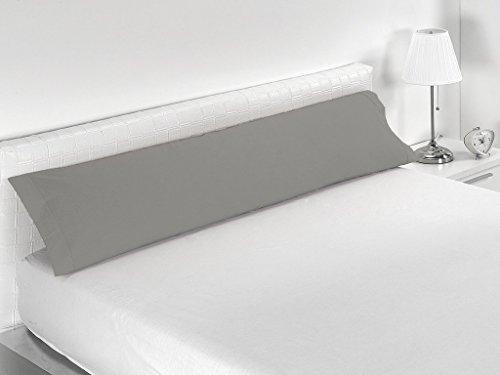 Sabanalia Combina - Funda de almohada disponible en varios tamaños, Cama 150 - 170 x 45, Gris
