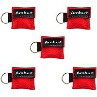 5x AMBU LifeKey Schlüsselanhänger Beatmungsmaske in rot preisvergleich bei billige-tabletten.eu