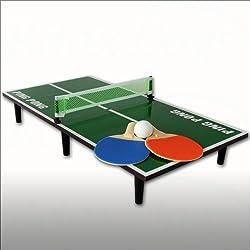 Spetebo Mini Tischtennis-Set mit Tischtennisplatte, Schläger, Netz und Ball - 60cm