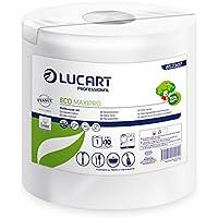 Lucart Professional 852307 Eco Bobine à Dévidage Central 450 Formats Pack de 6 Blanc