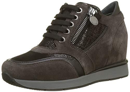 Stonefly Jackie 10 Velour, Zapatos de Cordones Derby para Mujer, Gris Magnet Gray 08W, 35 EU