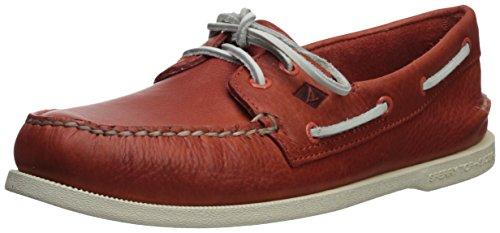 Sperry Top-Sider Men's A/O 2-Eye Daytona Boat Shoe, (Sperry Topsider Orange)