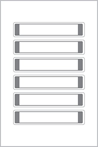 Avery Zweckform 62032 - Etiquetas prerecortadas (17 x 85 mm), color blanco