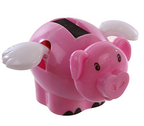 Lustige Fliegende Schweine (Bada Bing Solar Wackel Figur Fliegendes Schwein Pig Flügel Glücksbringer)