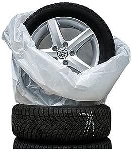Reifensäcke 4er Set Für Den Reifenwechsel Schutzhüllen Reifentaschen Radhüllen Reifentüten Schützen Verschleiß Und Ihren Kofferraum Vor Schmutz Sehr Reißfest Und Stabil Bis 22 Zoll Auto