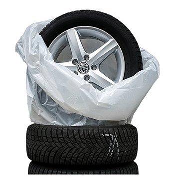 Reifensäcke 4er Set für den Reifenwechsel | Schutzhüllen Reifentaschen Radhüllen Reifentüten schützen Verschleiß und Ihren Kofferraum vor Schmutz, sehr reißfest und stabil | bis 22 Zoll