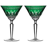 Waterford Clarendon Calici Emerald Martini Glass