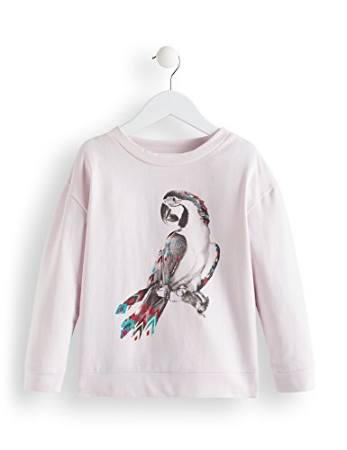 RED WAGON Mädchen Print-Sweatshirt mit Papageien-Motiv, Violett (Lavander Fog 13-3820 Tcx), 122 (Herstellergröße: 7)