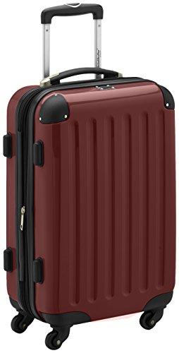 HAUPTSTADTKOFFER - Alex - Handgepäck Hartschalen-Koffer Trolley Rollkoffer Reisekoffer Erweiterbar, 4 Rollen, TSA, 55 cm, 42 Liter, Burgund