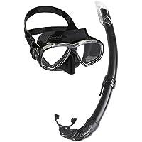 Cressi Perla Mare Combo Maschera Subacquea, (Snorkel Flessibile)