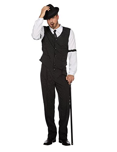 Wilbers Gangsterkostüm Kostüm Gangster Mafia Mafiakostüm 20er Gentleman Boss Karneval Schwarz - Herren Mafia Kostüm