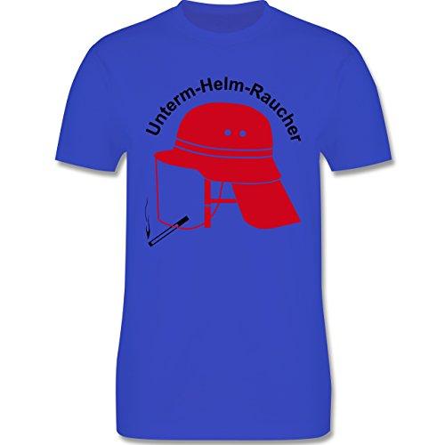 Feuerwehr - Unterm-Helm-Rauch - Herren Premium T-Shirt Royalblau