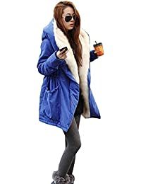 Frauen Warm Hood Parka Jacke Dicke Wintermantel Long Cardigan Plus Größe Top