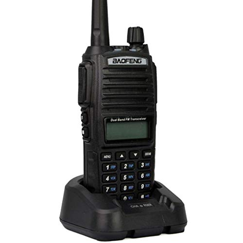 Mengshen Baofeng UV-82 Walkie Talkie High-Powered Big Power Than Others Dual-Band 136-174/400-520 MHz FM Ham Radio transceptor Interphone Two Way Radio Long Range + Dual PTT Headset, BF UV-82Ou