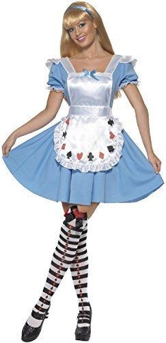 Alice im Wunderland Mädchen Welt Buch Woche TV Film Halloween Karneval Kostüm Kleid Outfit - UK 16-18 (Halloween Kostüme Tv)