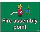 Bombero fuego montaje muestra este punto - especialmente para una escuela infantil eaisly a señalarme el fuego montaje punto en un más diversión y comprensión camino señal - 1,2 mm 300 mm x 200 mm plástico rígido