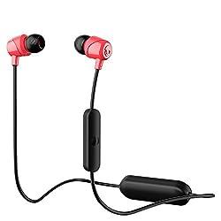 Skullcandy Jib Wireless In-Ear Earphones with Mic (Red)