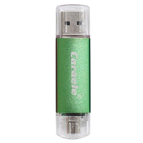 USB-Speicherstick OTG Dual Port (USB & Micro USB) für Computer Laptop TV-Lautsprecher Car Player Android Smartphones Tablets PCs OTG Flash-Laufwerk (256GB, Green) (Drive 256 Pen Gb Usb)
