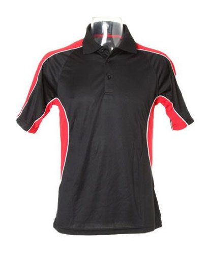 Kustom KitHerren Poloshirt Mehrfarbig - Black/ Red