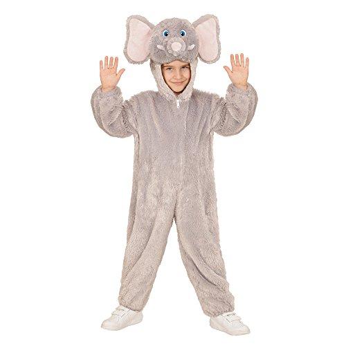 WIDMANN 98104–Disfraz para niños Elefante de Peluche, Mono con Capucha y máscara
