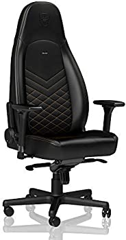 Noblechairs ICON Gaming Chair, Black / Gold
