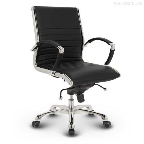 Versee Leder Design Drehstuhl Bürostuhl Montreal Low Back schwarz