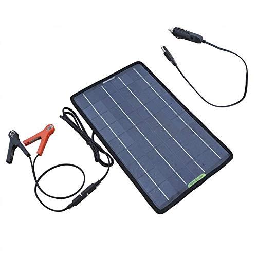 Ecoworthy 12 V 7,5 W Tragbares Solar-Auto Boot Power Batterie Erhaltungsladegerät Wartung Solarpanel für Auto Motorrad Traktor Boot Wohnmobil Batterien mit Krokodilklemm-Adapter - Solar-power-auto-batterie-ladegerät