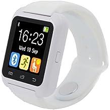 Fashion relojes Bluetooth Smart Android Digital reloj inteligente Wearable dispositivos Color blanco