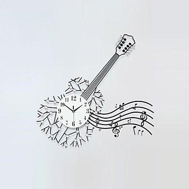 Y & M carré/nouveauté moderne/contemporain Horloge murale, floral/caractères/Scènes/Musique/mariage/Famille verre/métal