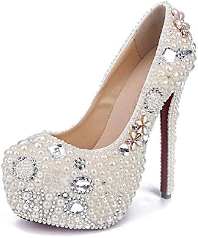 Mariée Sparkle De en Luxe Perle De Diamant De Mariage Chaussures en De Cristal Chaussures Sexy Night Club Imperméable... a12704