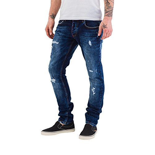 Bangastic Homme Jeans / Jeans Straight Fit Used Bleu