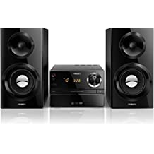 Philips MCM2350/12 - Microcadena (70 W RMS, UKW, USB 2.0), color negro