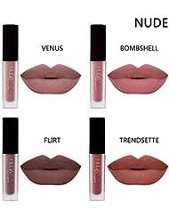 4pcs / mat brillant à lèvres sexy liquide rouge à lèvres étanche hydratant durable hydratant professionnel lèvres baume maquillage
