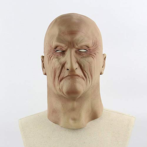 chrecklich unheimlich realistisch grausig alte Mann Maske Cosplay Kostüme Partei Requisiten Maskerade Supplies - Hautfarbe ()