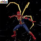 Spiderman Cartoon Avengers: Infinity War Action Figure S.H. Figuarts Bright Gold Spider Mark Iron Model Kids Toy Large No Retail Box
