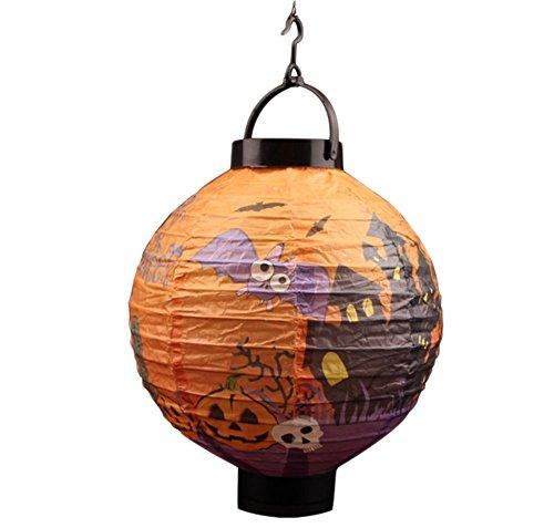 (daorier Papier Laterne LED Licht für Halloween Dekoration Garten Dekoration)